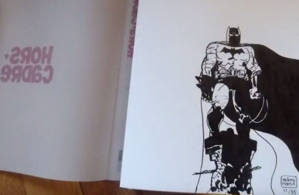 Video de l'encrage de Batman